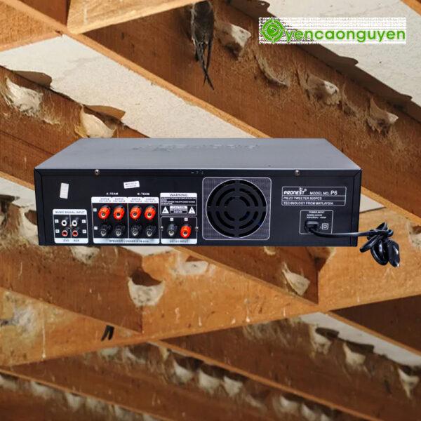 Mặt sau Âm Ly PRONEST P6 SWIFTLETS AMPLIFIER (800 LOA)